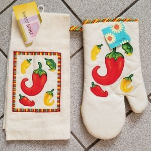 🎁5 for $25🎁oven mitten/towel set
